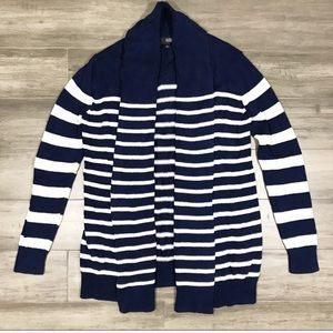 A.N.A Open Front Striped Cardigan